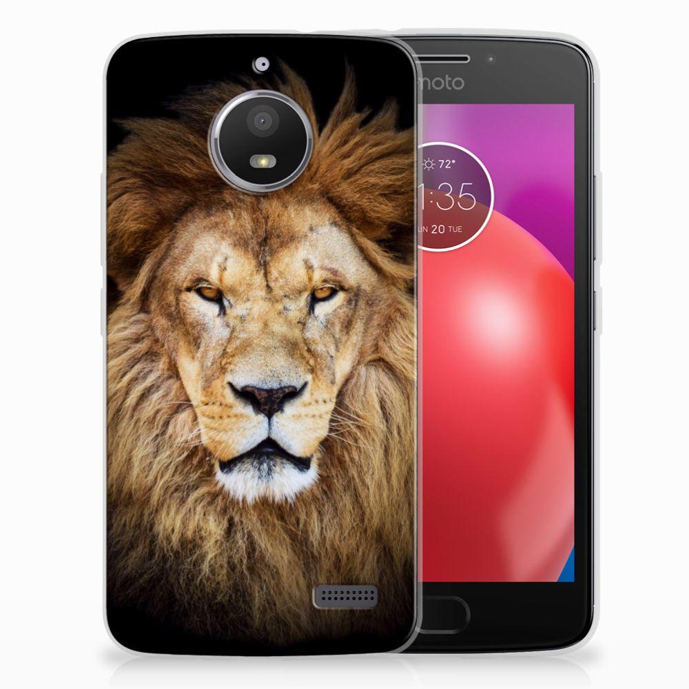 Motorola Moto E4 TPU Hoesje Design Leeuw
