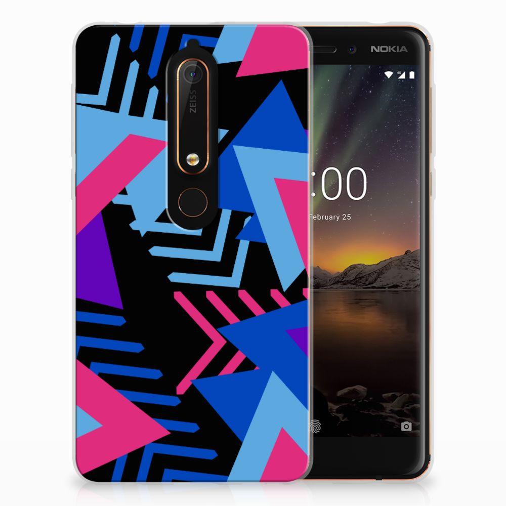 Nokia 6 (2018) TPU Hoesje Funky Triangle