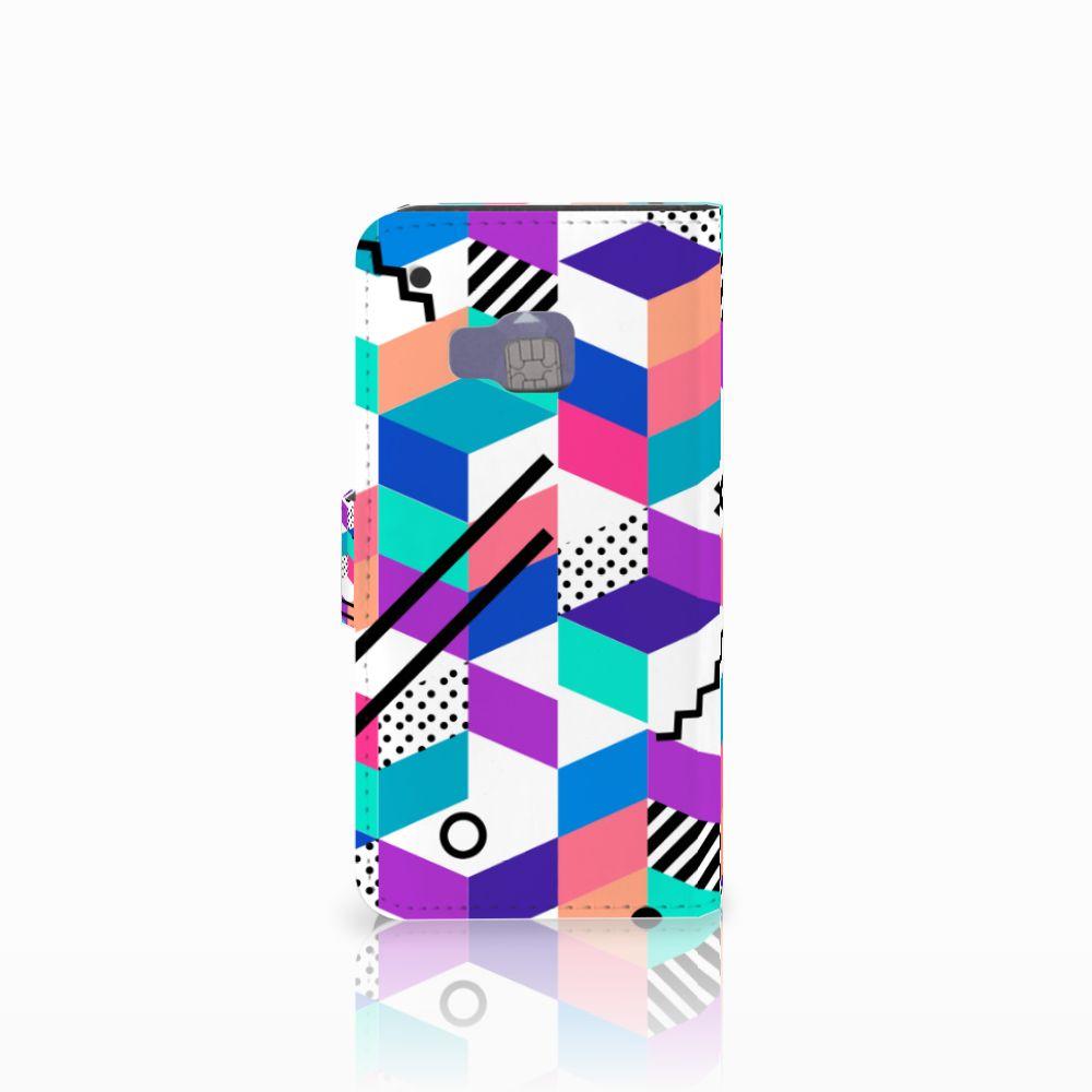 HTC One M9 Bookcase Blokken Kleurrijk