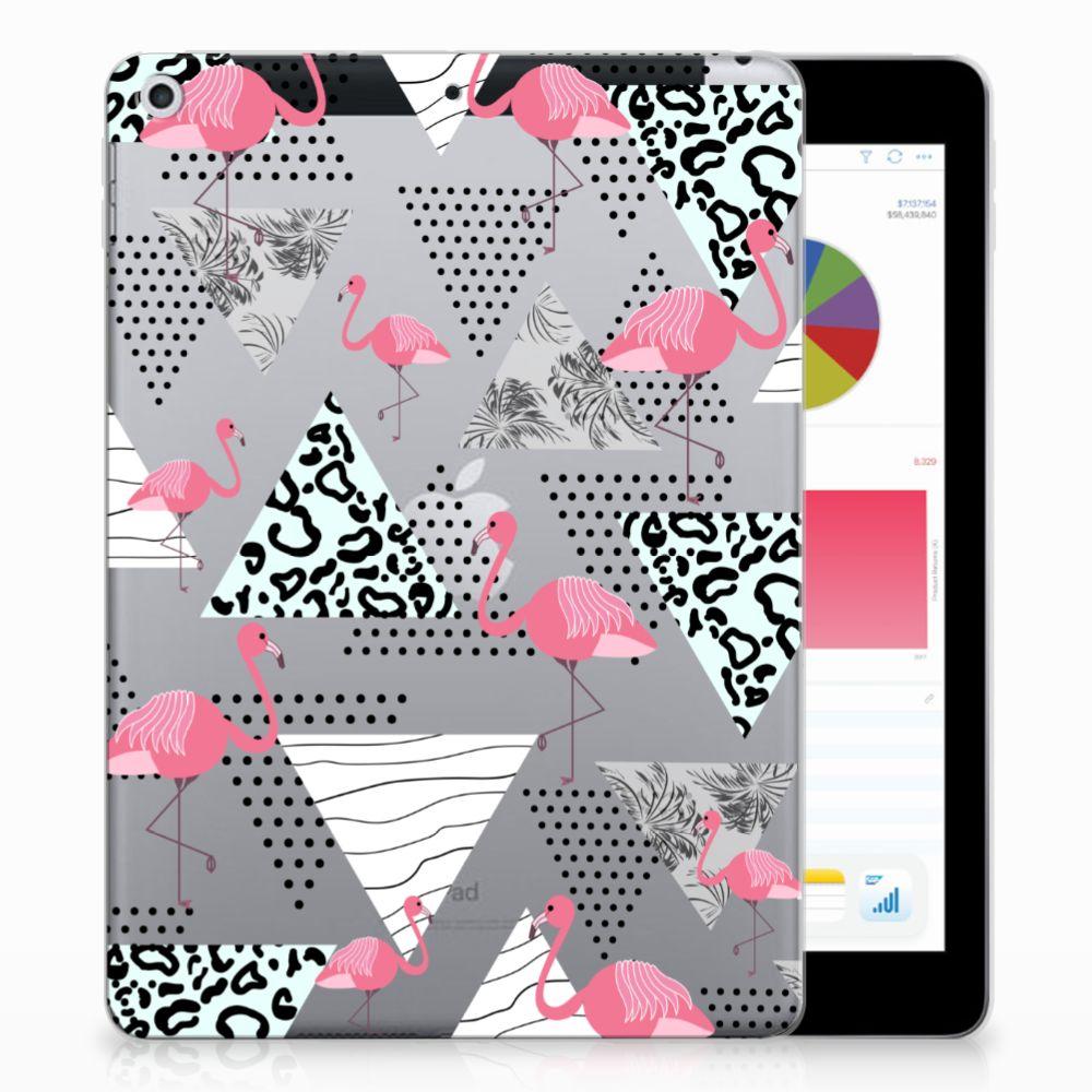 Apple iPad 9.7 2018   2017 Back Case Flamingo Triangle