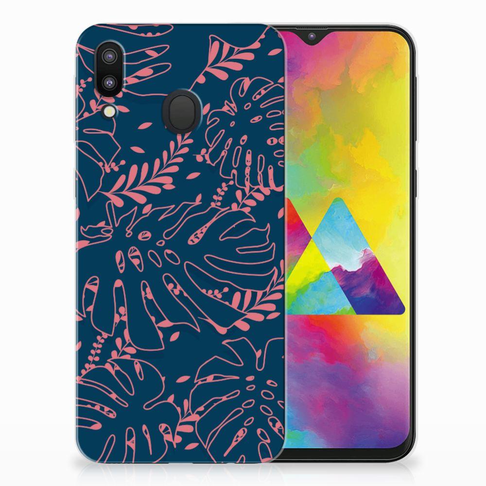 Samsung Galaxy M20 TPU Hoesje Design Palm Leaves