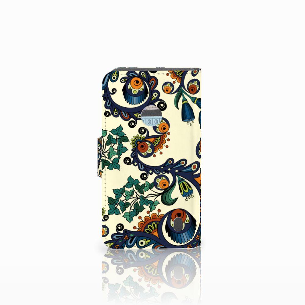 Wallet Case Nokia Lumia 520 Barok Flower