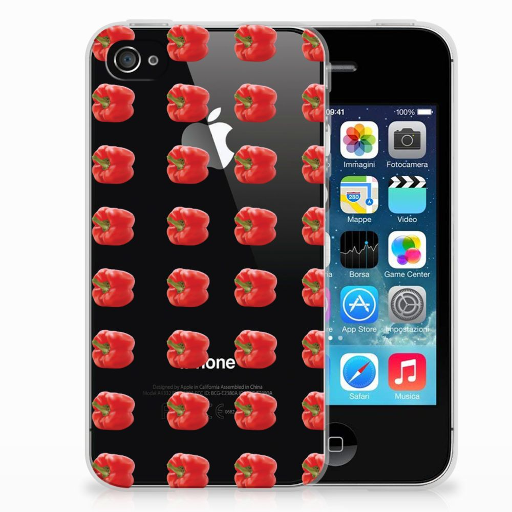 Apple iPhone 4 | 4s Siliconen Case Paprika Red