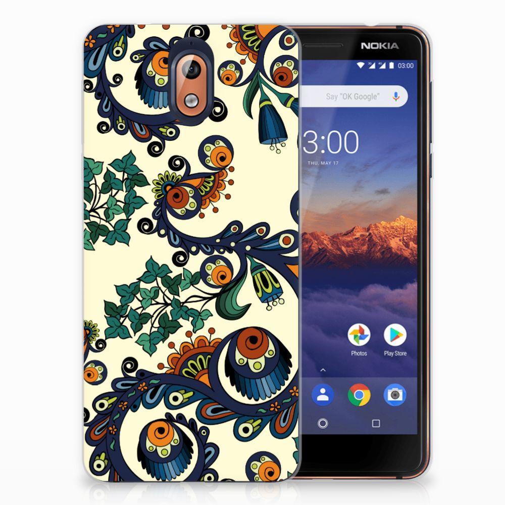 Nokia 3.1 (2018) TPU Hoesje Design Barok Flower