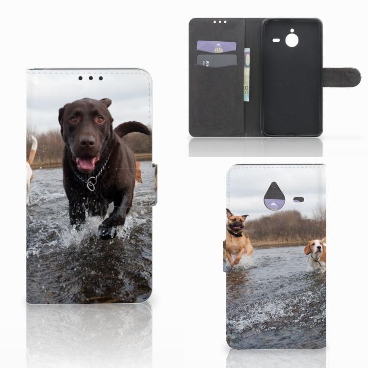 Microsoft Lumia 640 XL Telefoonhoesje met Pasjes Honden Labrador