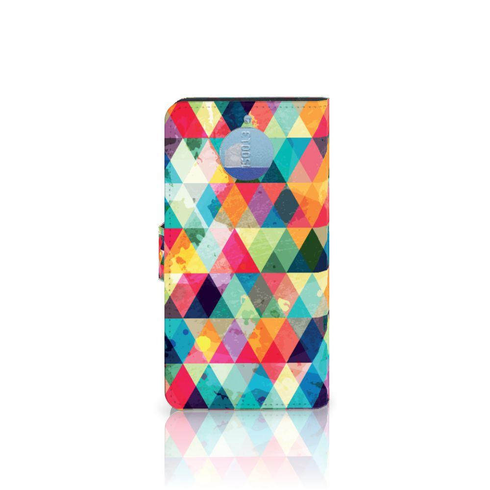 Motorola Moto G5S Plus Telefoon Hoesje Geruit