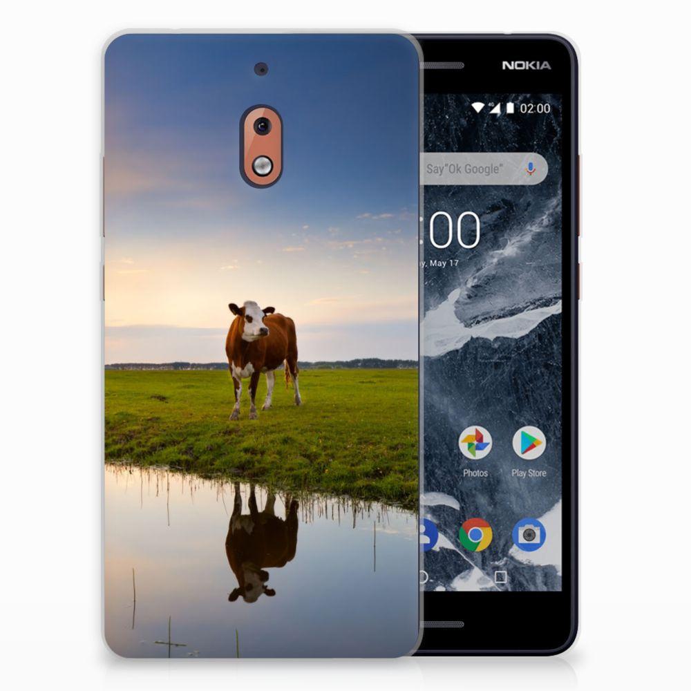 Nokia 2.1 (2018) TPU Hoesje Design Koe