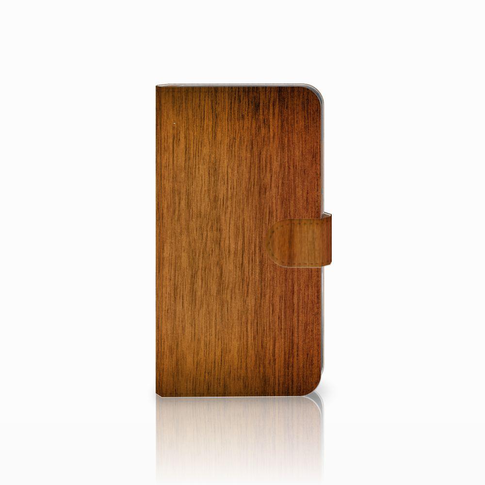 Huawei Mate 9 Uniek Boekhoesje Donker Hout
