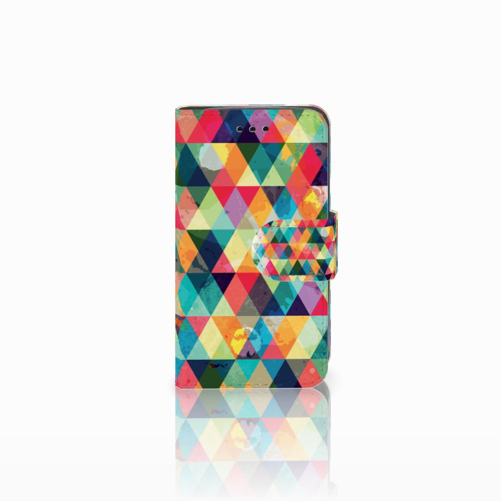 Samsung Galaxy Trend 2 Uniek Boekhoesje Geruit