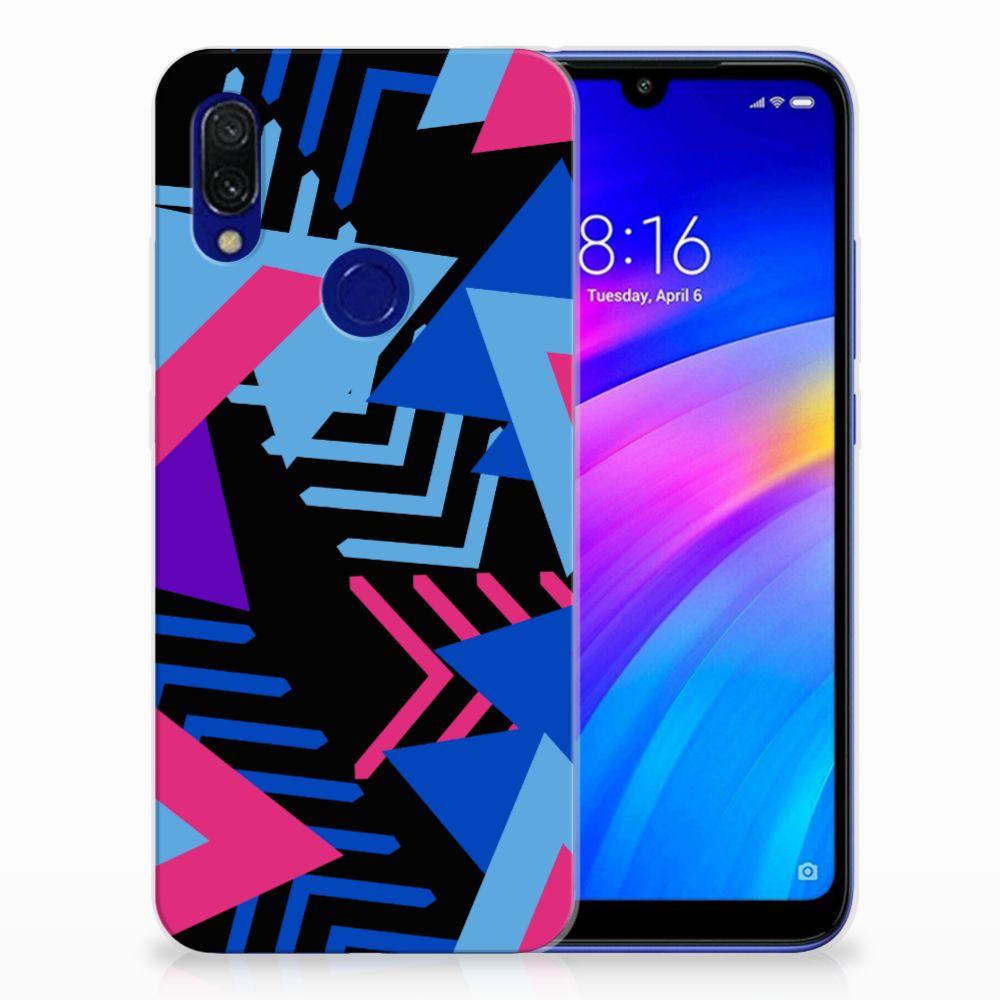 Xiaomi Redmi 7 TPU Hoesje Funky Triangle