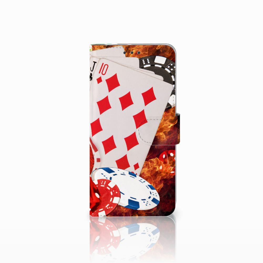 HTC U11 Plus Uniek Boekhoesje Casino