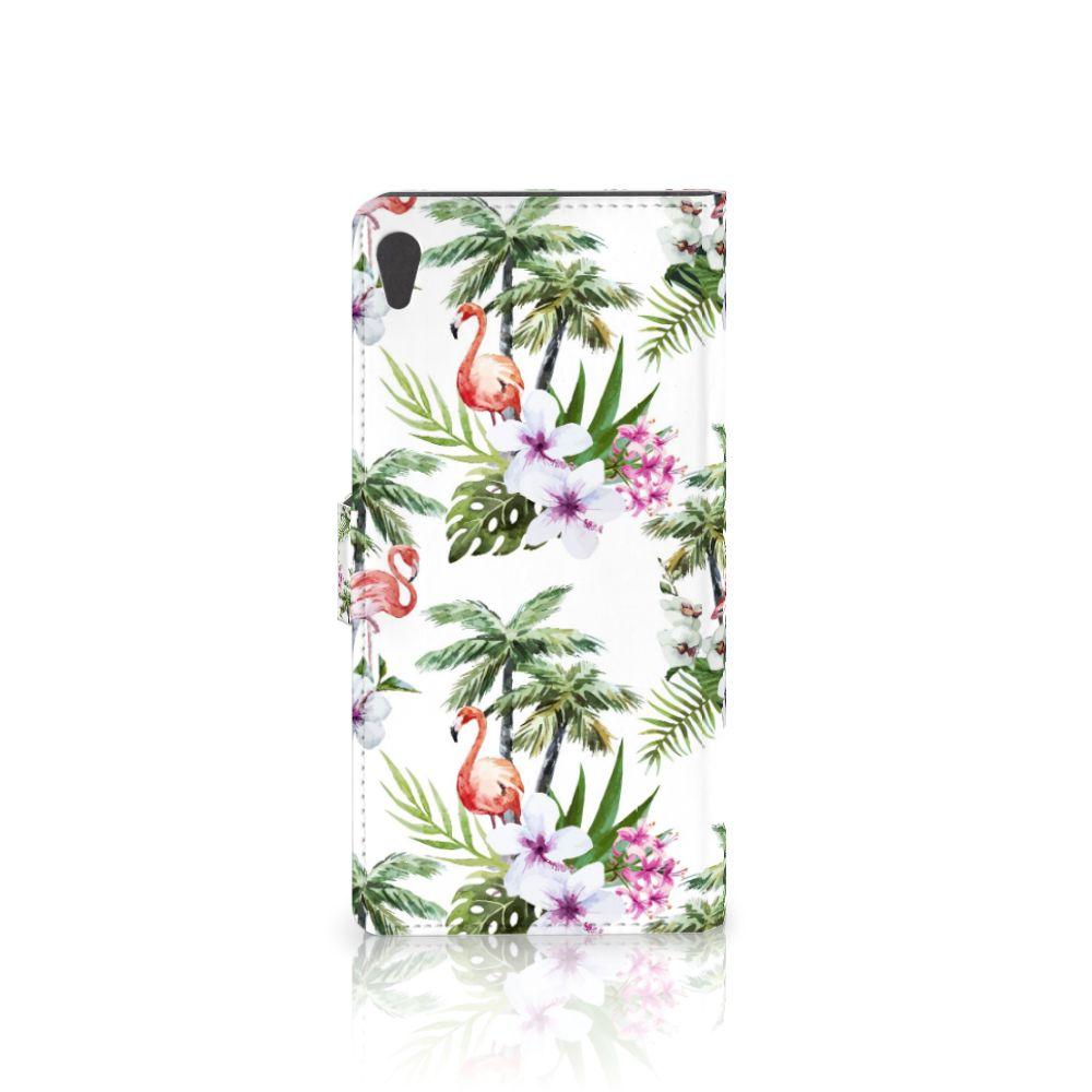 Sony Xperia XA Ultra Telefoonhoesje met Pasjes Flamingo Palms
