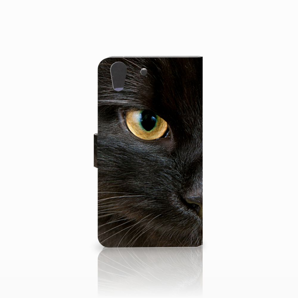 Huawei Y6 II   Honor 5A Telefoonhoesje met Pasjes Zwarte Kat