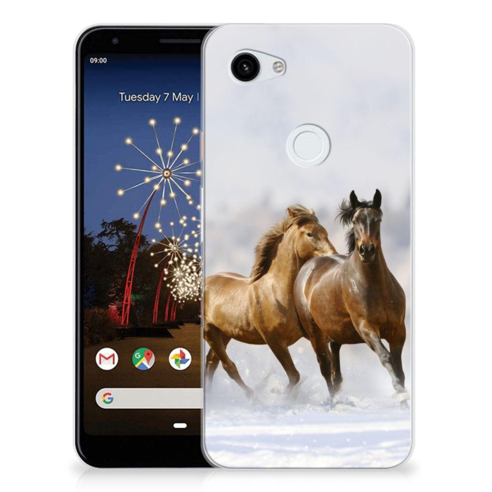 Google Pixel 3A XL TPU Hoesje Paarden