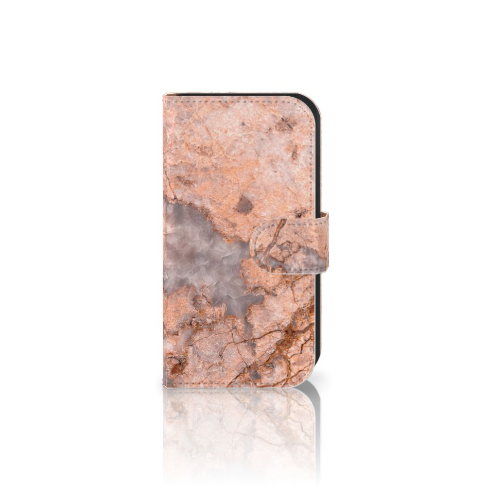 Samsung Galaxy Ace 4 4G (G357-FZ) Boekhoesje Design Marmer Oranje