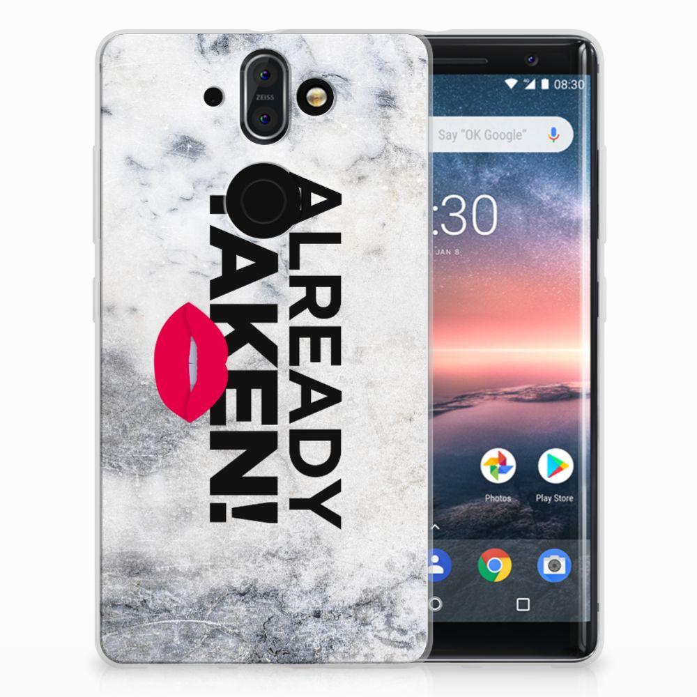 Nokia 9 | 8 Sirocco TPU Hoesje Design Already Taken White