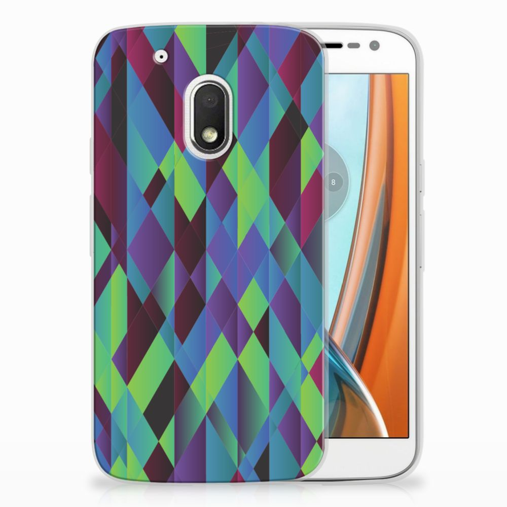 Motorola Moto G4 Play TPU Hoesje Design Abstract Green Blue
