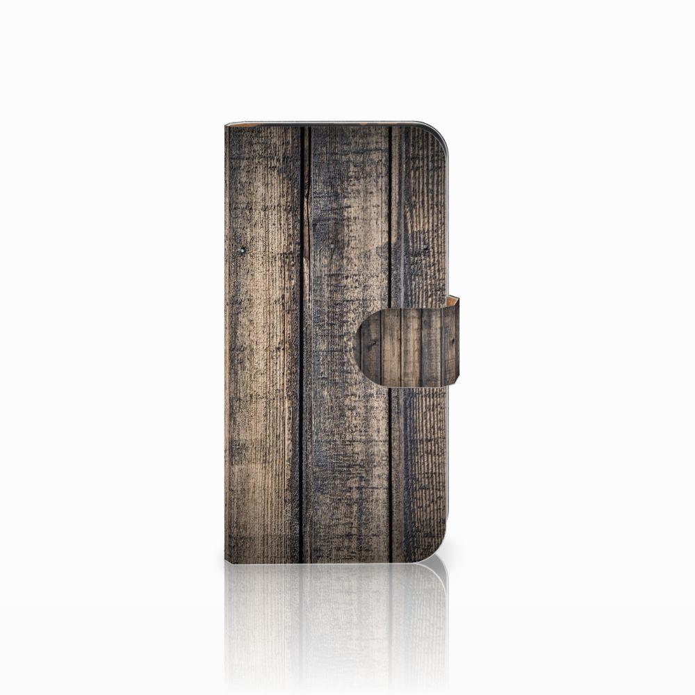 HTC One Mini 2 Boekhoesje Design Steigerhout