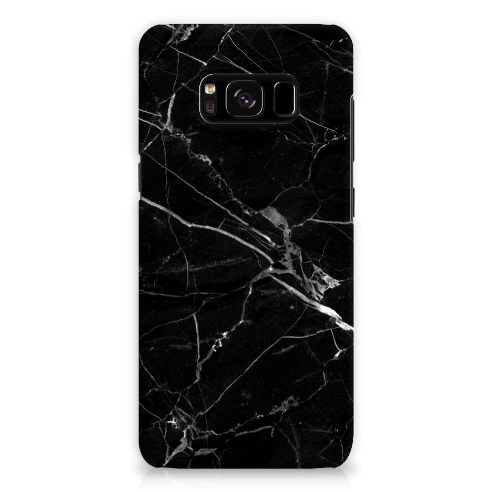 Samsung Galaxy S8 Uniek Hardcase Hoesje Marmer Zwart
