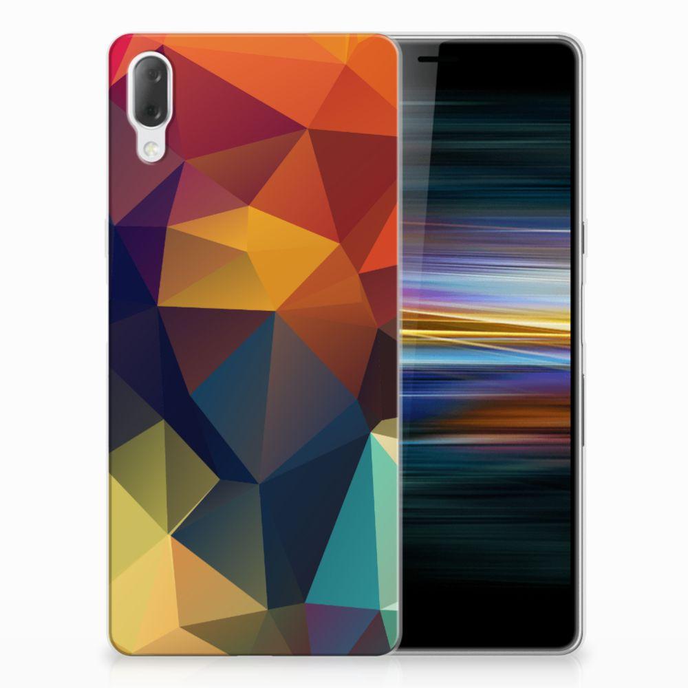 Sony Xperia L3 TPU Hoesje Polygon Color