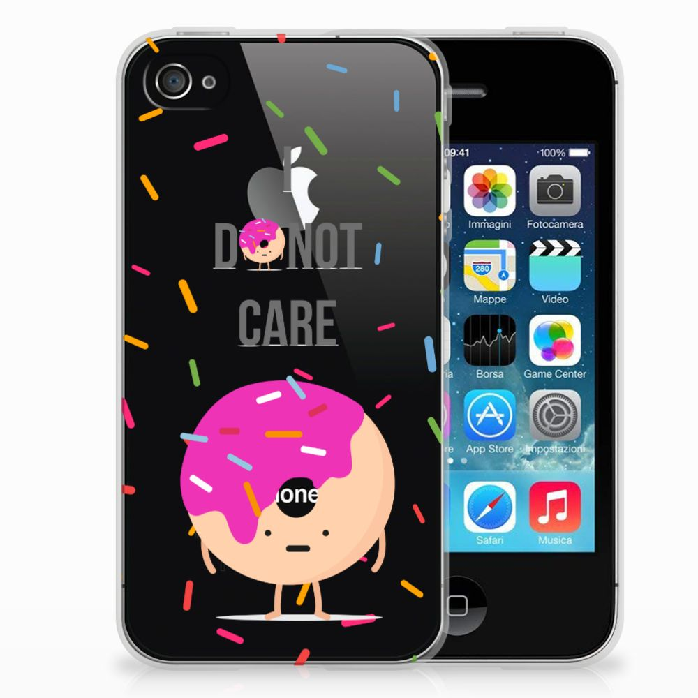 Apple iPhone 4 | 4s Siliconen Case Donut Roze