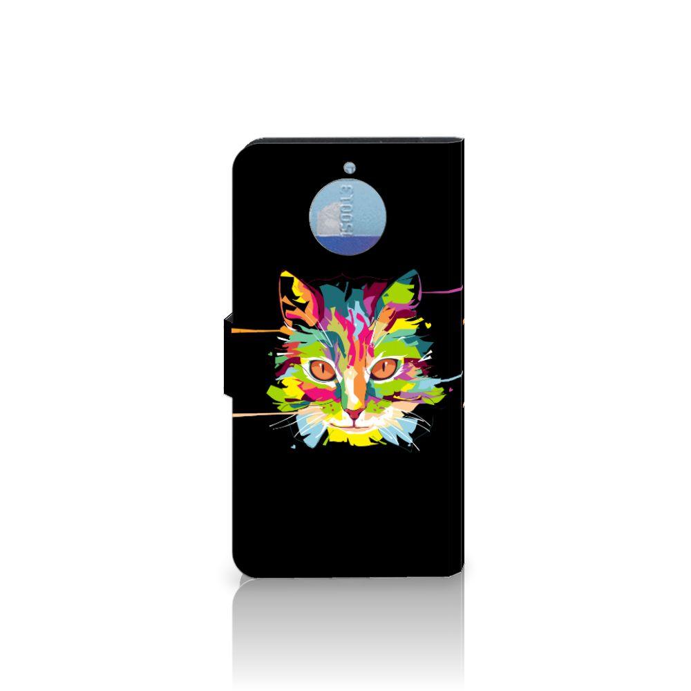 Motorola Moto G5S Plus Leuke Hoesje Cat Color