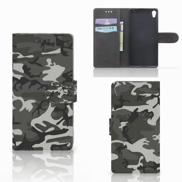 Sony Xperia E5 Telefoon Hoesje Army Light