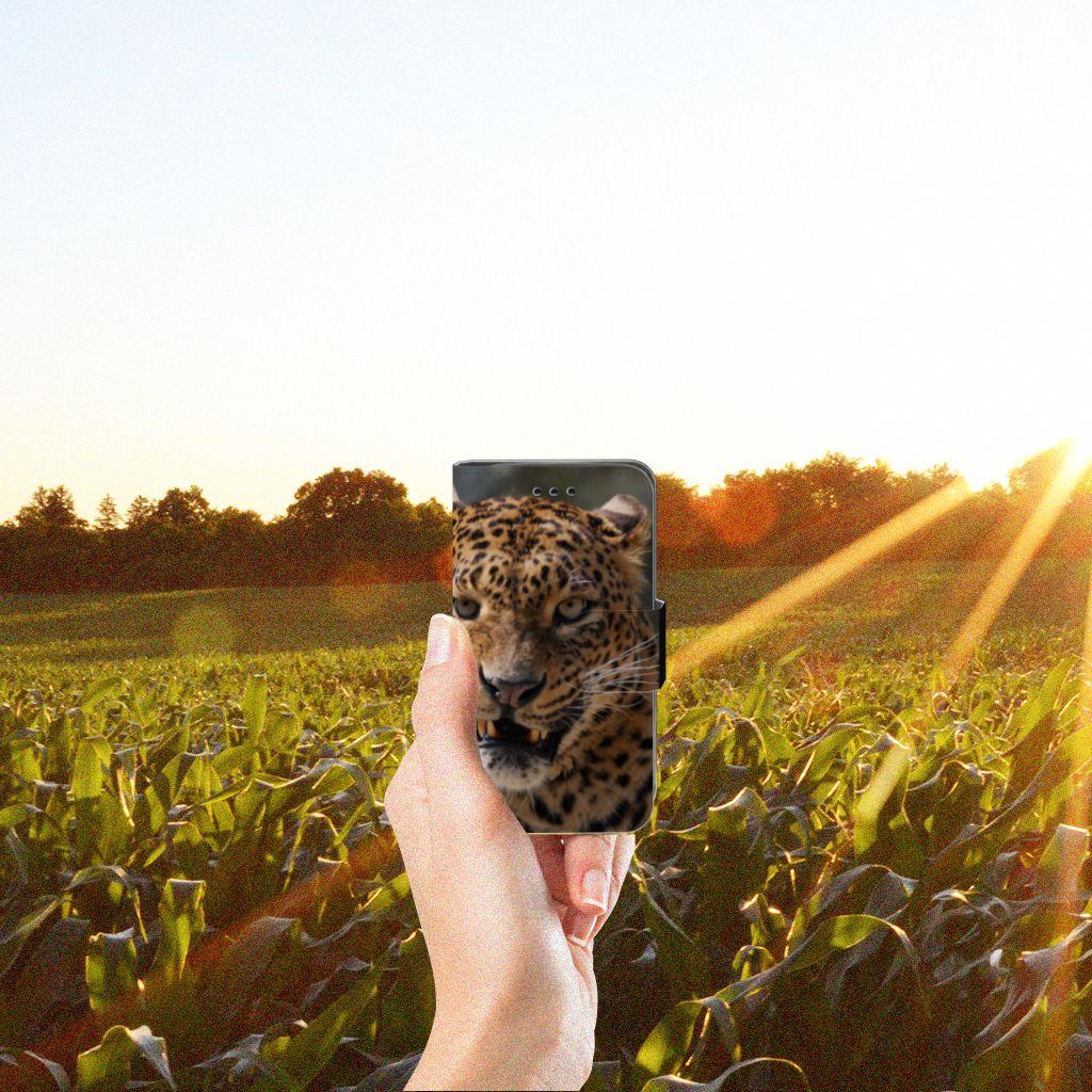 Samsung Galaxy Trend 2 Telefoonhoesje met Pasjes Luipaard