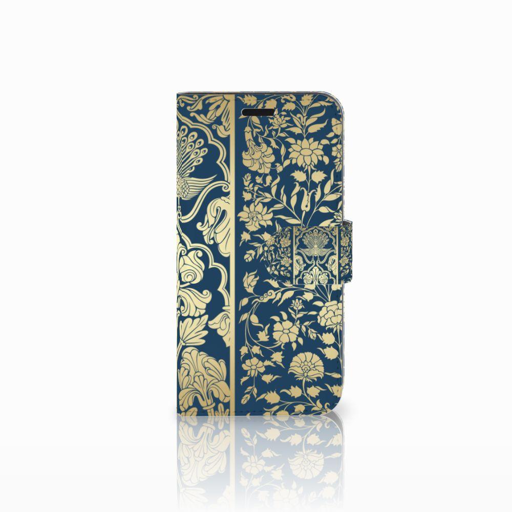 Huawei Nova Uniek Boekhoesje Golden Flowers