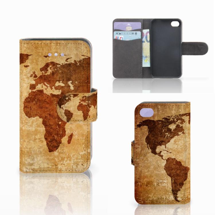 Apple iPhone 4 | 4S Flip Cover Wereldkaart