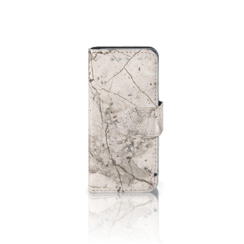 Samsung Galaxy S4 Mini i9190 Boekhoesje Design Marmer Beige
