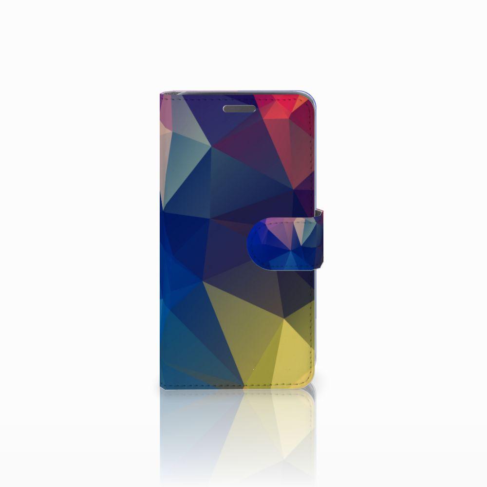 Wiko Rainbow Jam Uniek Boekhoesje Polygon Dark