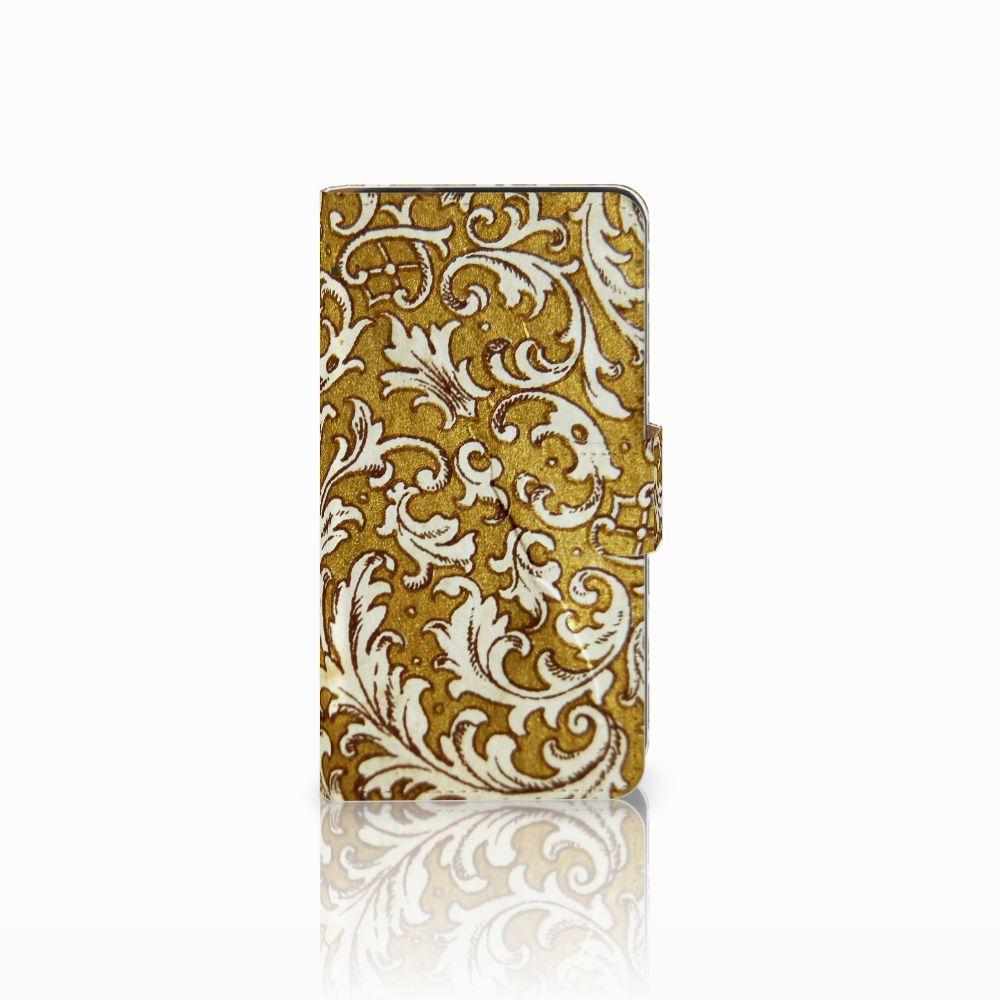 Samsung Galaxy J2 (2015) Boekhoesje Design Barok Goud