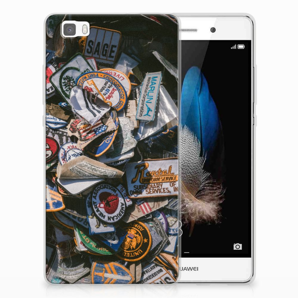 Huawei Ascend P8 Lite Siliconen Hoesje met foto Badges