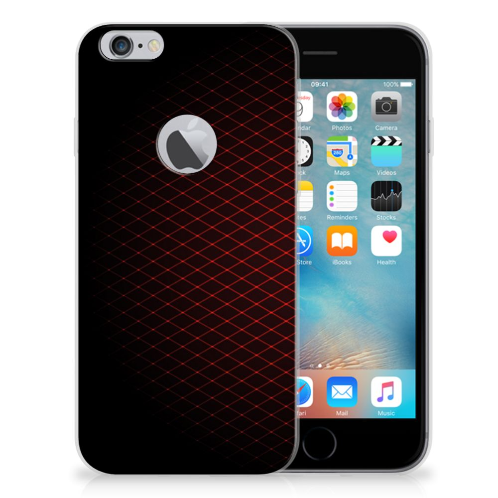 Apple iPhone 6 Plus | 6s Plus TPU bumper Geruit Rood