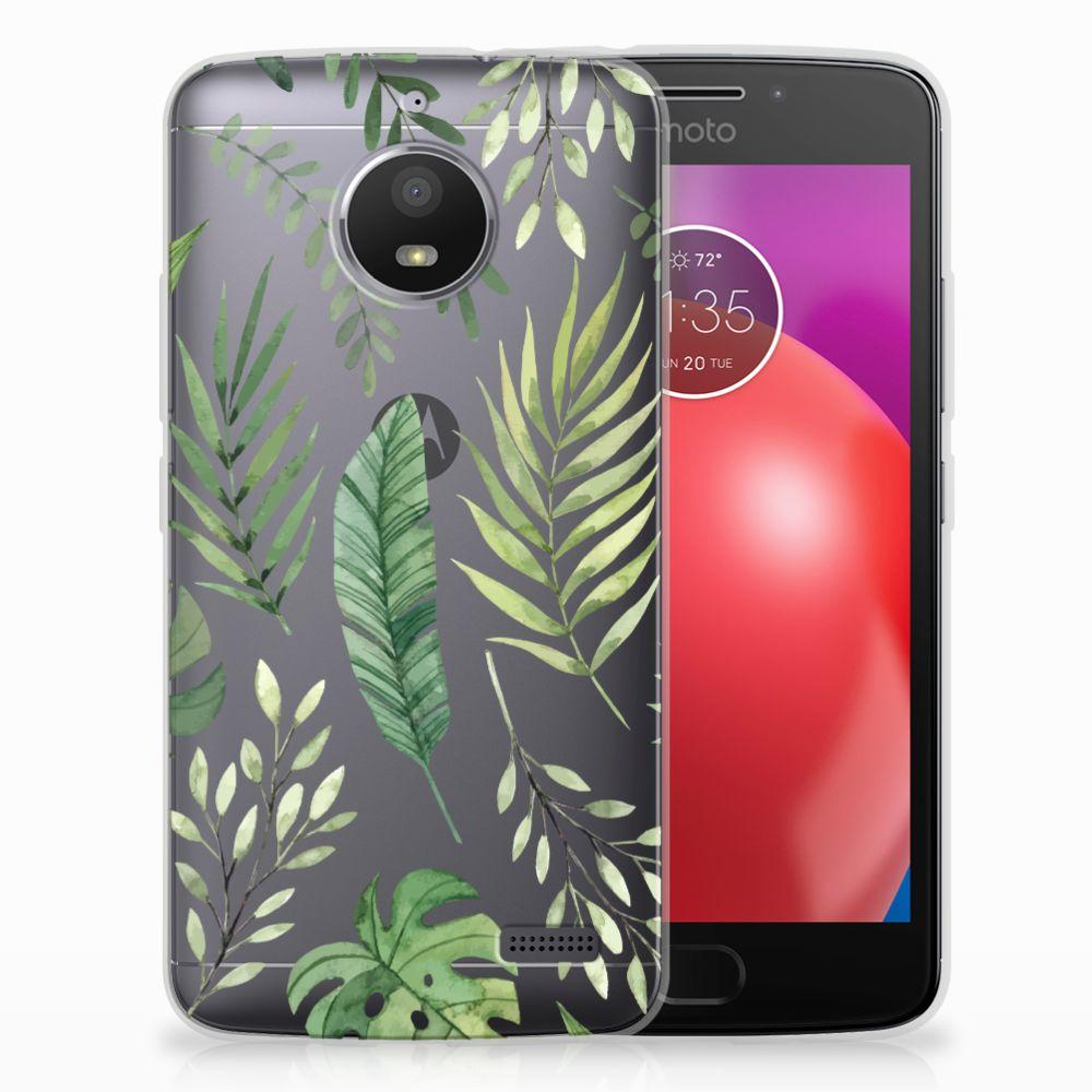 Motorola Moto E4 Uniek TPU Hoesje Leaves
