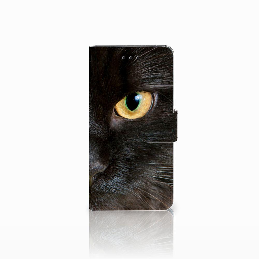 Huawei Y5 2018 Telefoonhoesje met Pasjes Zwarte Kat