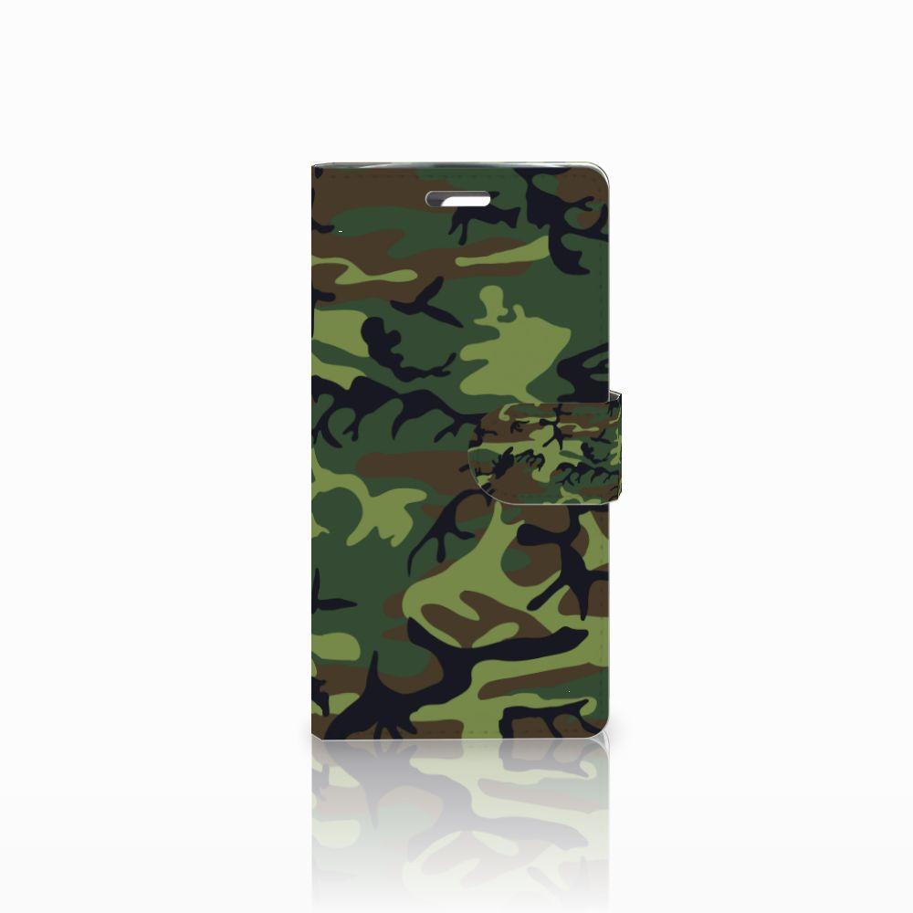 LG K10 2015 Boekhoesje Design Army Dark