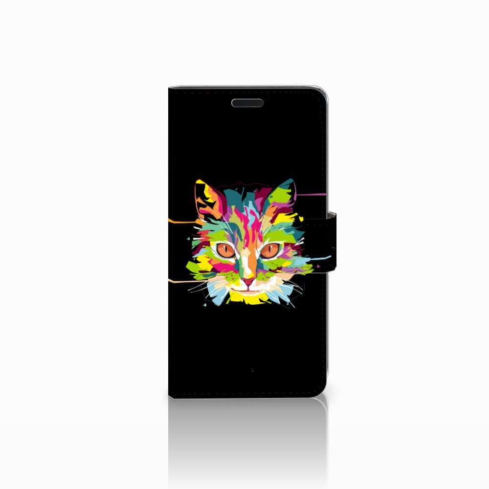 HTC Desire 530 Uniek Boekhoesje Cat Color