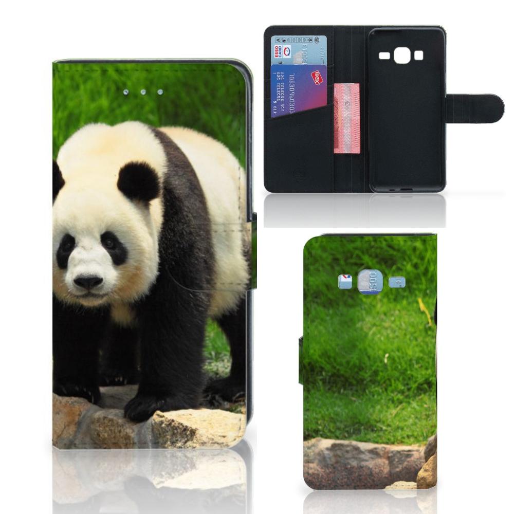 Samsung Galaxy J3 2016 Telefoonhoesje met Pasjes Panda