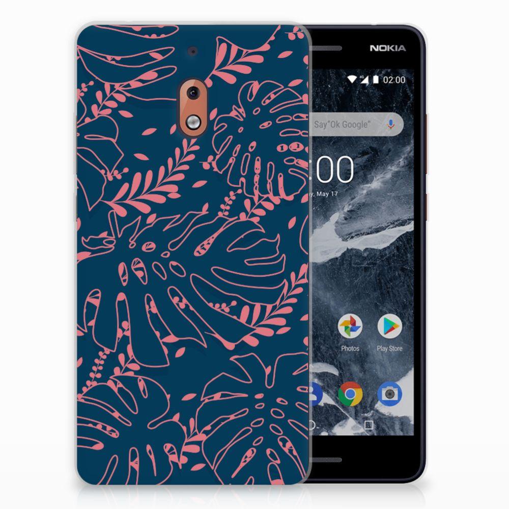 Nokia 2.1 (2018) TPU Hoesje Design Palm Leaves