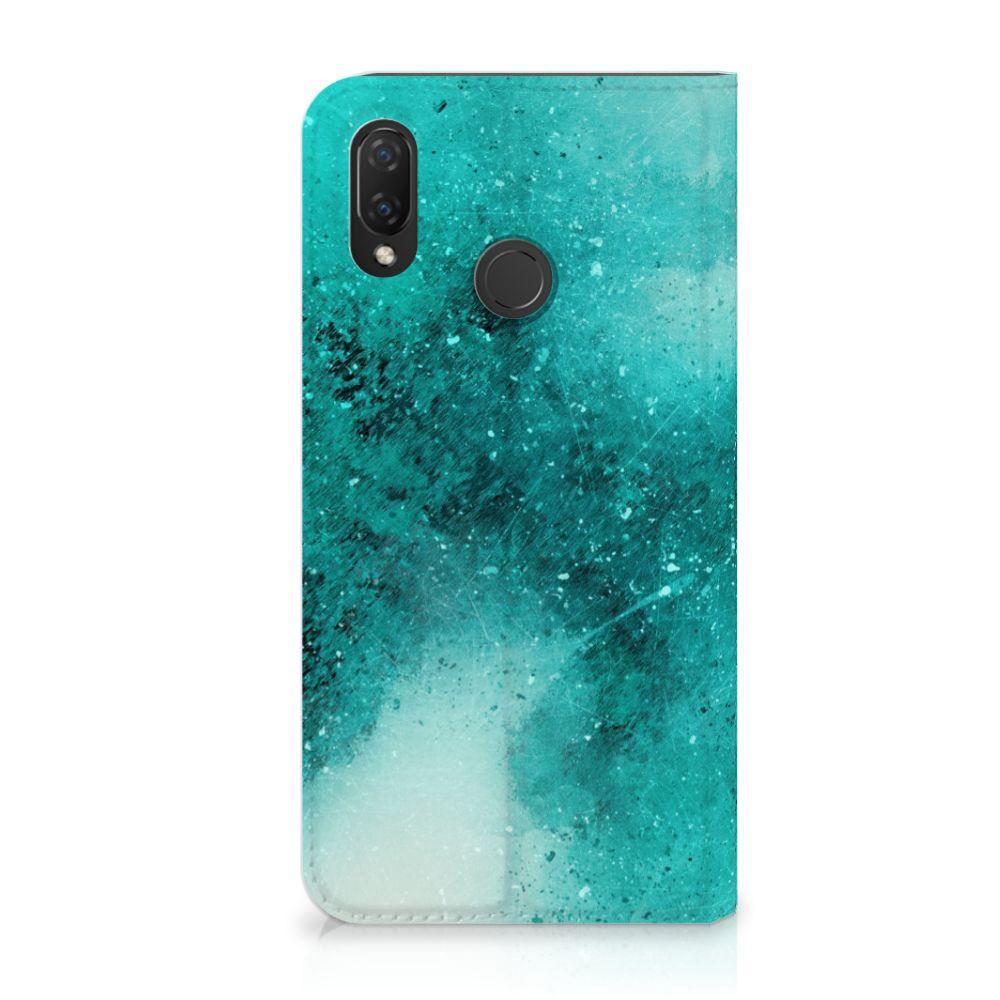Huawei P Smart Plus Uniek Standcase Hoesje Painting Blue