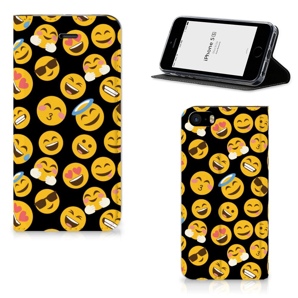 iPhone SE|5S|5 Hoesje met Magneet Emoji