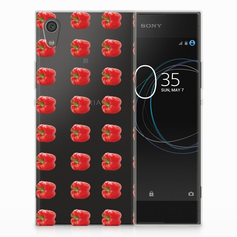 Sony Xperia XA1 Siliconen Case Paprika Red