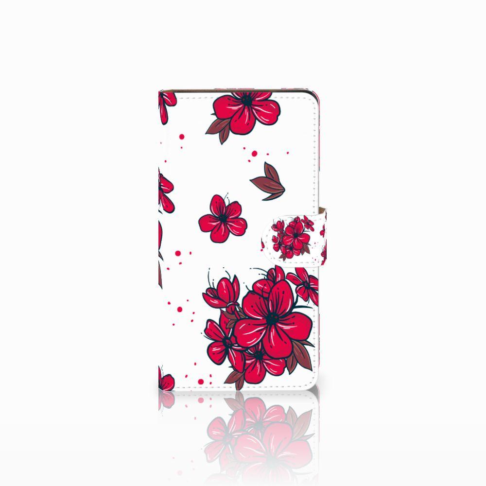 Huawei Ascend G700 Boekhoesje Design Blossom Red