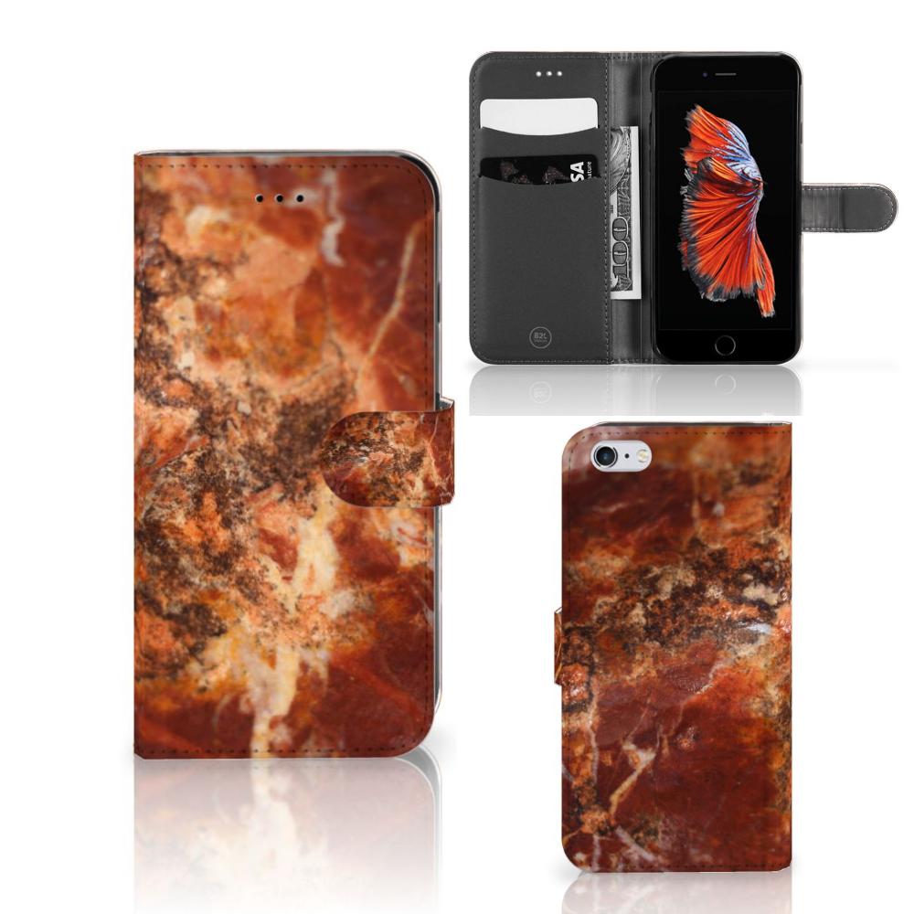 Apple iPhone 6 Plus | 6s Plus Bookcase Marmer Bruin