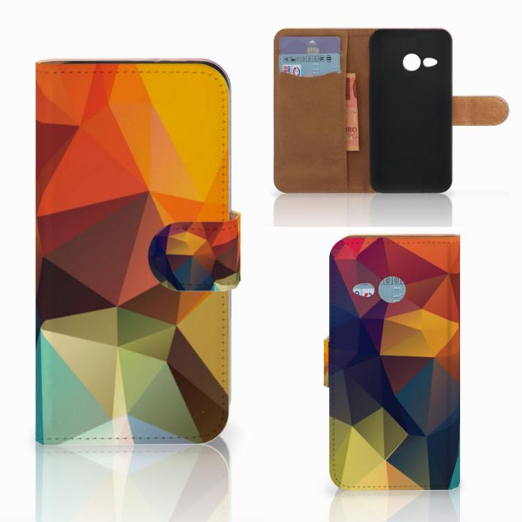 HTC One Mini 2 Bookcase Polygon Color