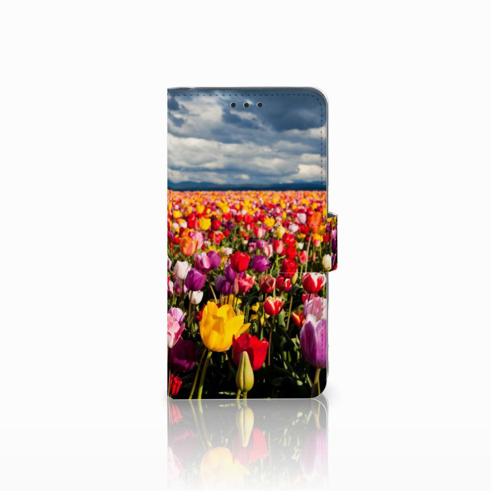Samsung Galaxy A8 2018 Uniek Boekhoesje Tulpen