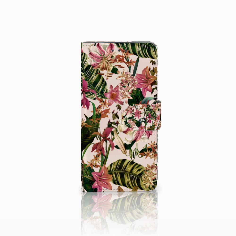 Motorola Moto X4 Uniek Boekhoesje Flowers