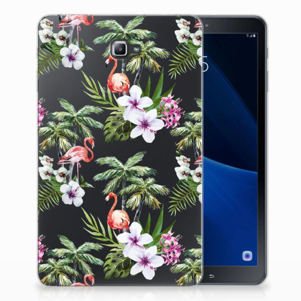 Samsung Galaxy Tab A 10.1 Back Case Flamingo Palms